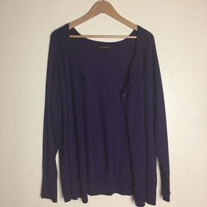 LANE BRYANT BUTTON FRONT CARDIGAN SWEATER